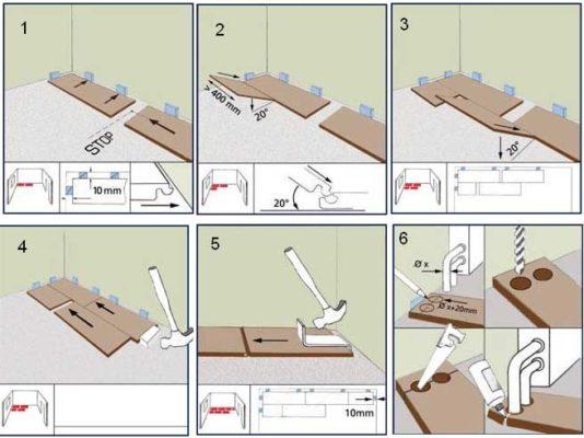 инструкция по укладке ламината